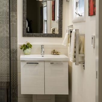 Contemporary Vanity and Accent Mirror