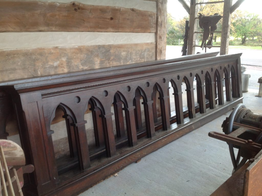 carved wood, Gothic, Gallery wall, church mezzanine