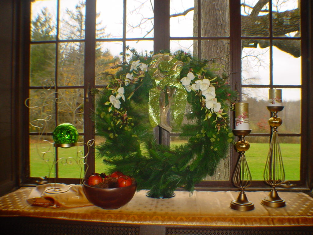 Decorate with Wreaths in Nontraditional Places Using a Wreath Stand